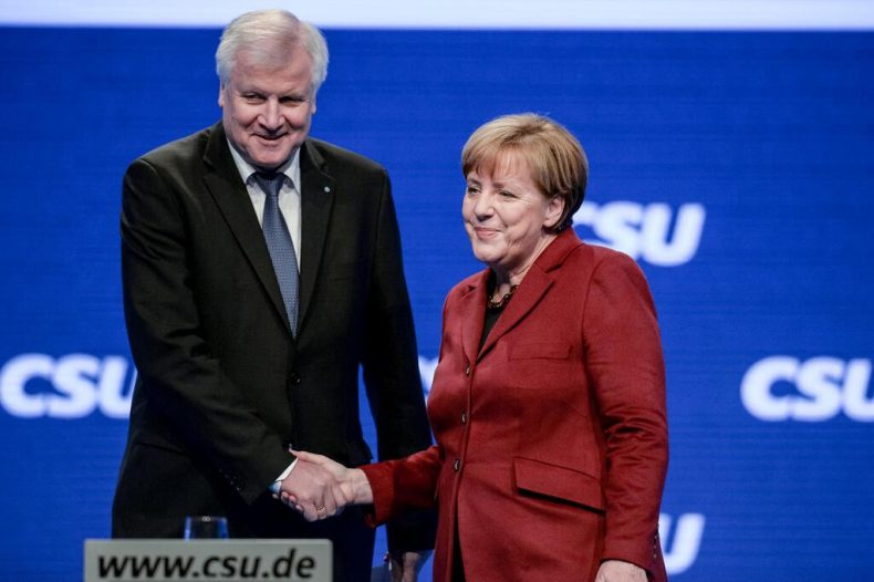 merkel and Horst seehofer