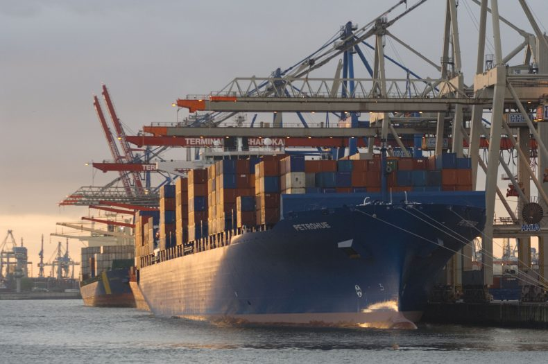 Containerterminal / Hamburg / container terminal