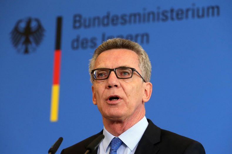 وزير الداخلية الاتحادي بألمانيا توماس دي ميزر