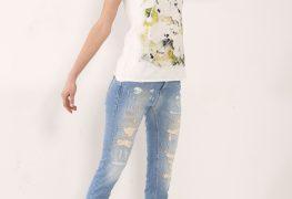 jeans Schrammen