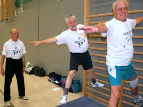 Senioren sollten Sportgruppe mit Gleichalterigen