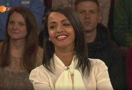 سوزان شبلي خلال الحوار على قناة زد دي إف الألمانية