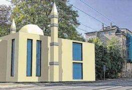 تصميم تصوري لمسجد طائفة الأحمدية في مدينة لايبزيغ