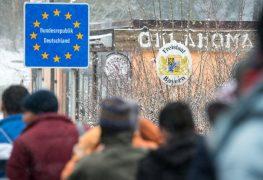 Flüchtlinge an deutsch-österreichischer Grenze