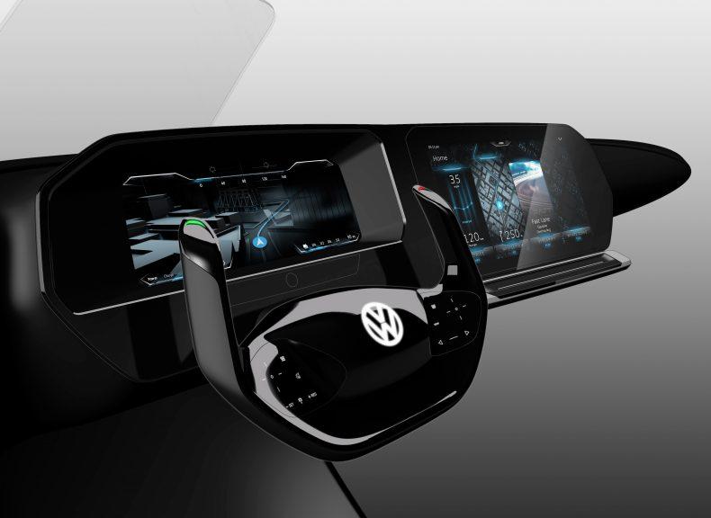VW zeigt Cockpit der Zukunft mit 3D-Grafik und Blicksteuerung